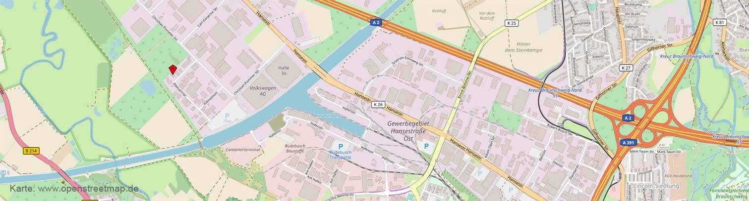 © OpenStreetMap-Mitwirkende: Anfahrt Lhotzky und Partner Ingenieurgesellschaft, Braunschweig