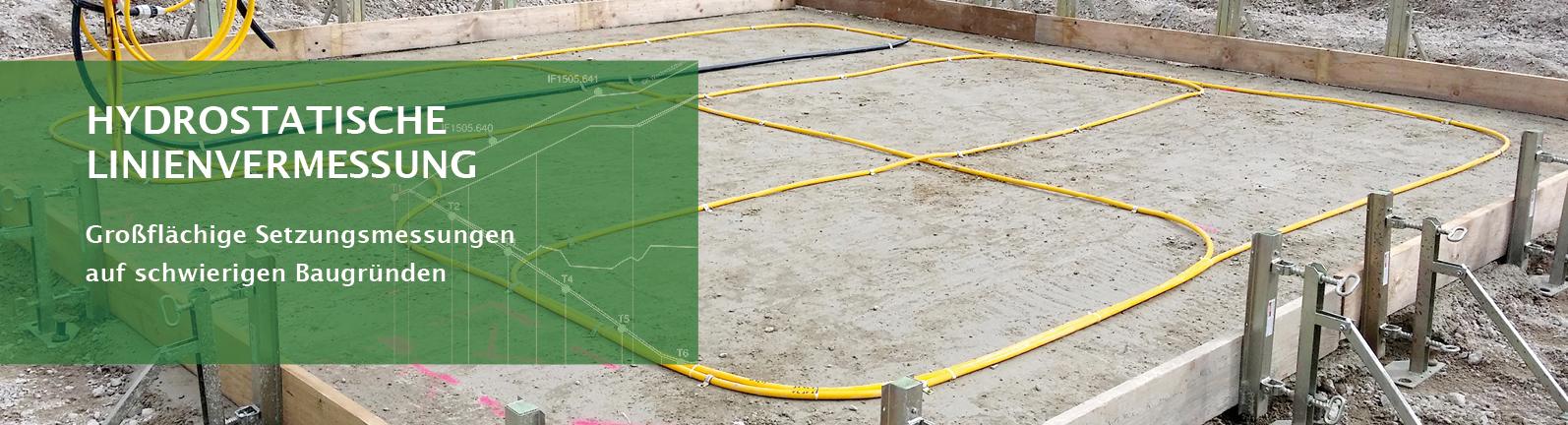 Lhotzky und Partner Startbanner Hydrostatische Linienvermessung