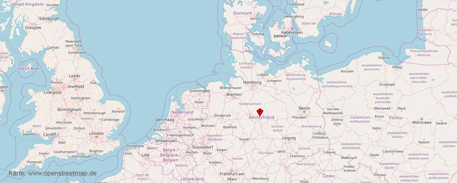 © OpenStreetMap-Mitwirkende: Lhotzky und Partner Ingenieurgesellschaft von Braunschweig aus im Nordeuropa tätig