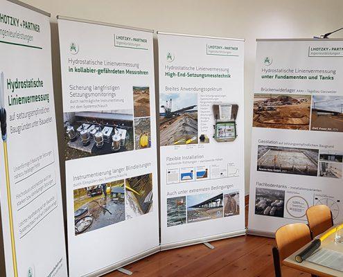 Neue Roll-ups von Lhotzky + Partner Ingenieurleistungen auf Fachtagung in Leipzig