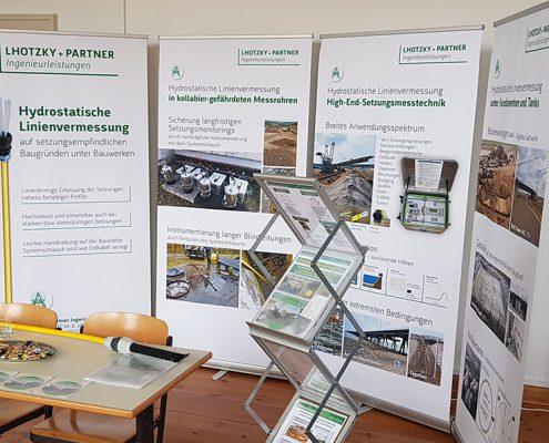 Lhotzky + Partner Ingenieurleistungen mit neuem Roll-up-Design auf Fachtagung in Leipzig